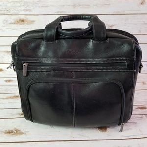 Kenneth Cole Reaction leather laptop briefcase